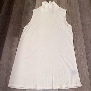 TORRID white sleeveless turtleneck ribbed sweater tank top 1x